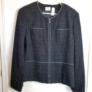 Emma James Black Textured Jacket